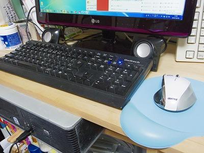 Roadの中古デスクトップパソコンのキーボードとマウス。別途購入したのでちょっといいやつです^^